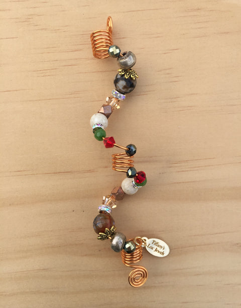 MULTI-COLORED WATERFALL RIVERSTONE & AGATE LOC JEWEL
