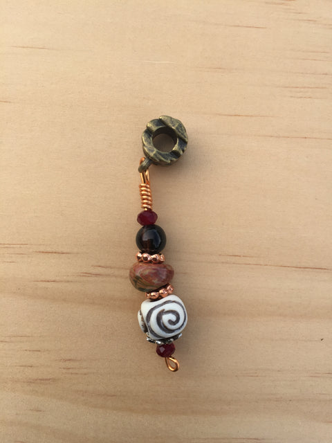 EARTHBOUND PICASSO JASPER & BONE LOC JEWEL