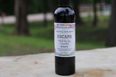 ESCAPE PATCHOULI & CLARY SAGE NATURAL HAIR MIST - TIFFANY'S LOC JEWELS