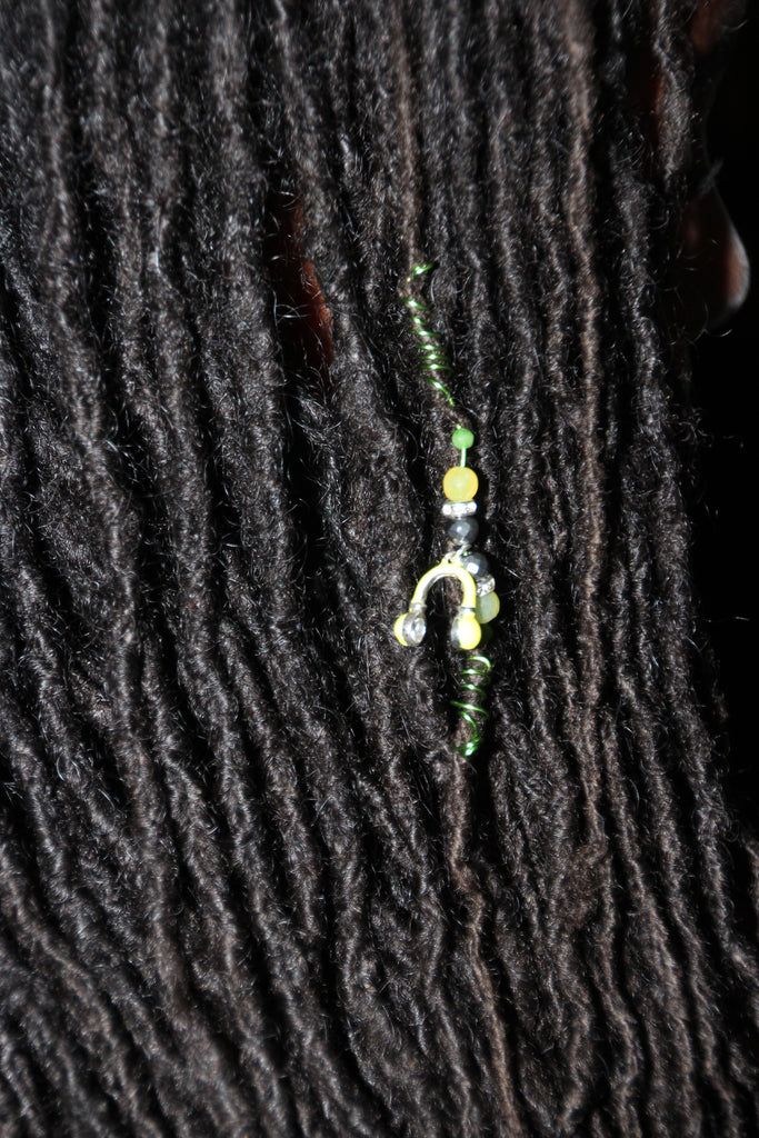 LISTENIN' TO MY MUSIC YELLOW AGATE & HEMATITE LOC JEWEL - TIFFANY'S LOC JEWELS