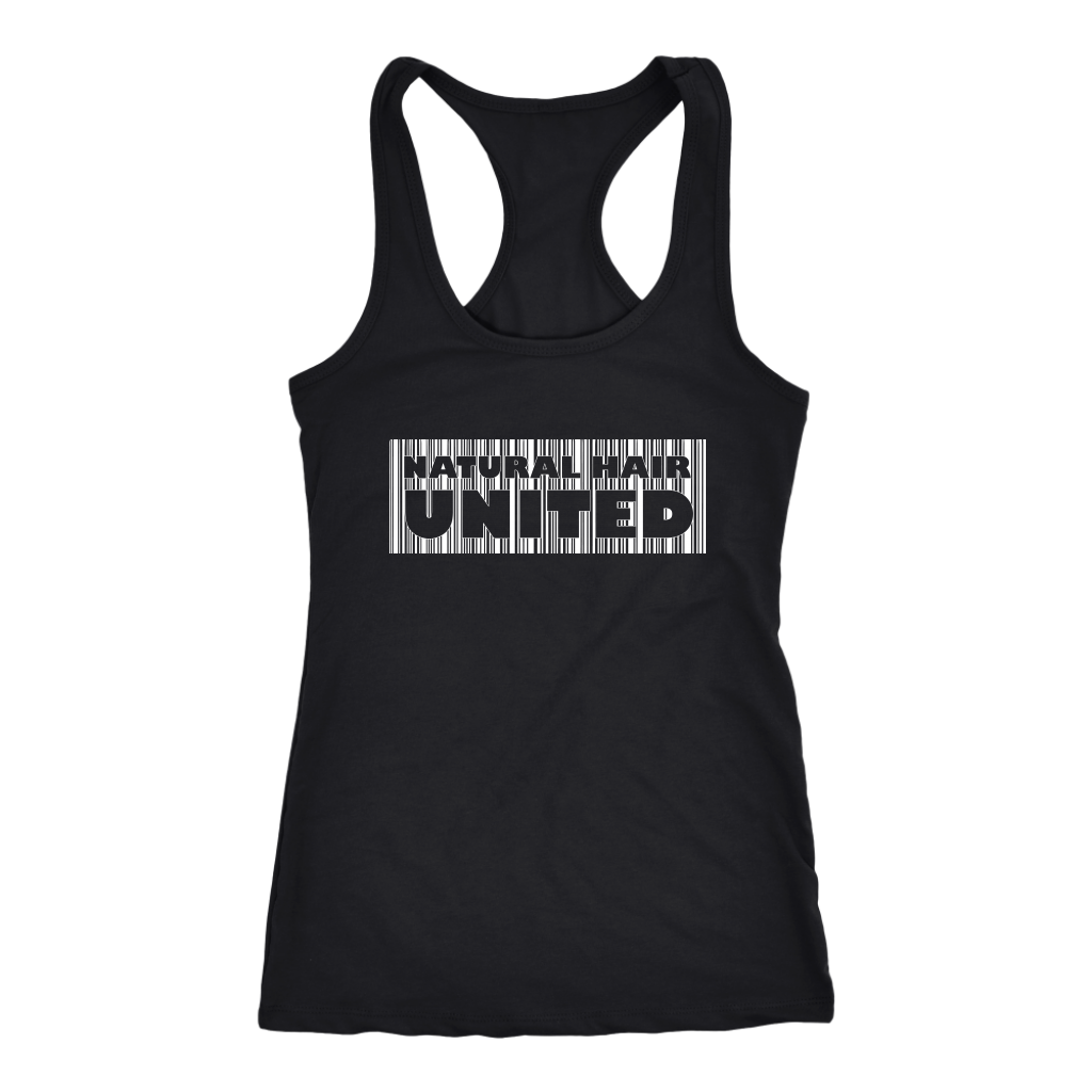 NATURAL HAIR UNITED TANK- Line Design (Thick) in Black - TIFFANY'S LOC JEWELS