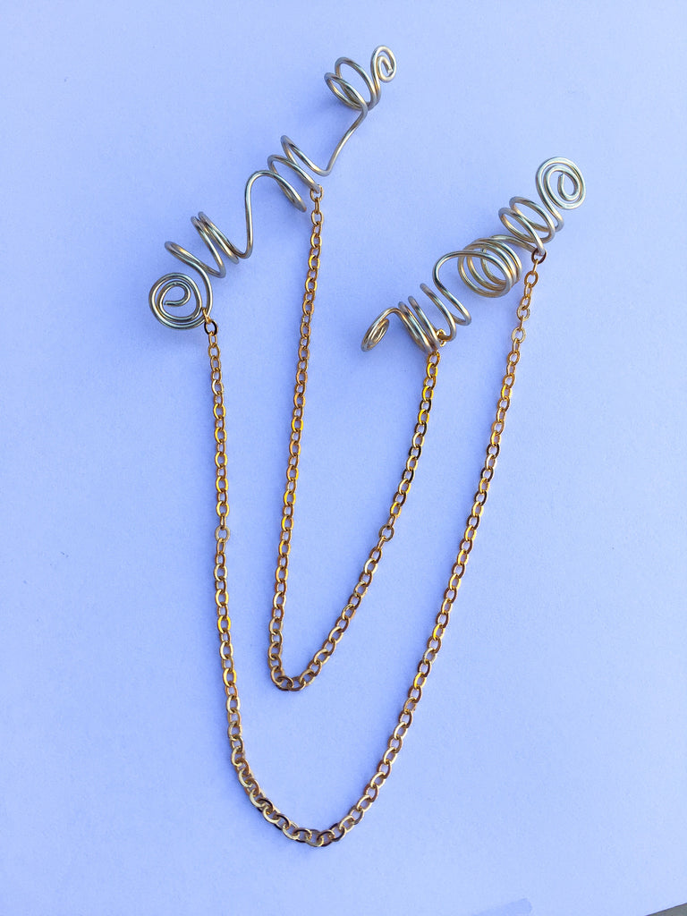 ACE Double Chain Gold Swirl Loc Jewelry - TIFFANY'S LOC JEWELS