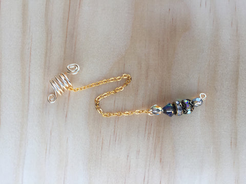 DAZZLING Gold Dangle Loc Jewel