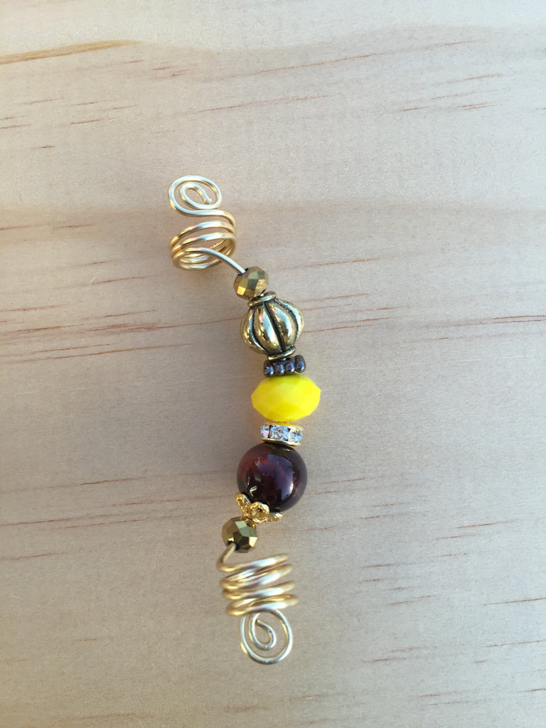 RAW HONEY Tiger's Eye Loc Dreadlock Jewelry