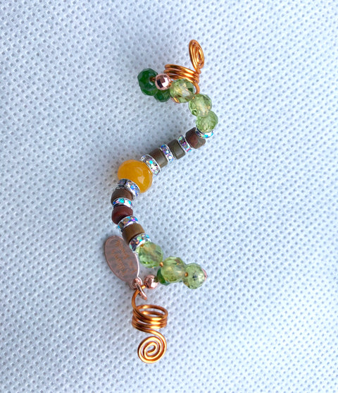 DESERT SUNSET Hunter Green Jade & Peridot Loc Jewel - TIFFANY'S LOC JEWELS