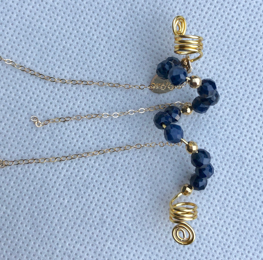 RICH NAVY Blue Sapphire Loc Jewel - TIFFANY'S LOC JEWELS