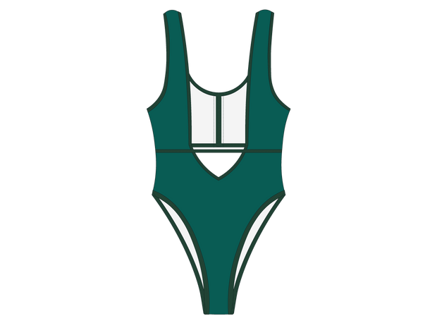 Anchor Green Contour One-Piece