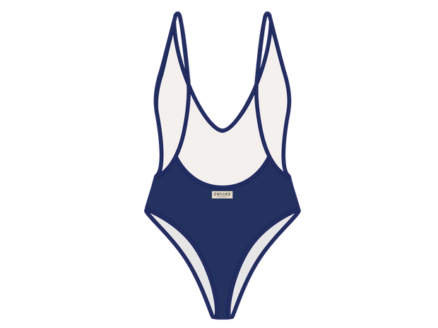 Laguna Blue Retro One-Piece