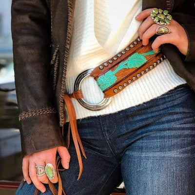 Forward Boutique Accessories Desert Bloom Cinch Belt
