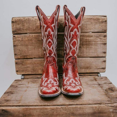 Lane Boot Red Saratoga Boot