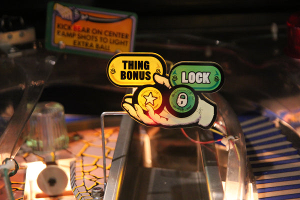 Backlit Signs for The Addams Family Pinball (Thing & Vault Pack)