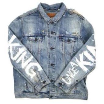 "Custom ""Always King"" Jean Jacket"