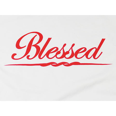 Blessed Short Sleeve Shirt (White/Red)