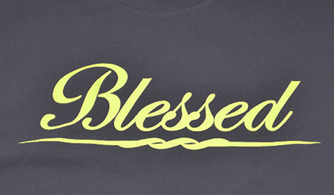 Blessed Short Sleeve Shirt (Black/Volt Green)