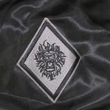 Traditional Lion logo on right sleeve of jacket.