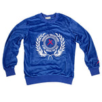 """A Cut Above the Rest Velour"" Sweatshirt (Blue)"