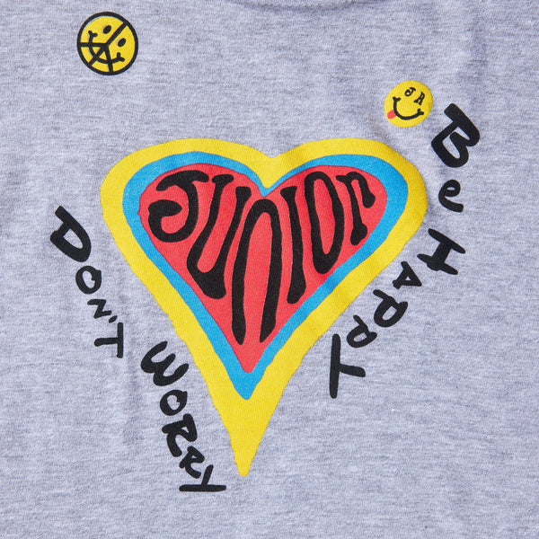 Don't Worry Be Happy Tee (Grey) - Haus of JR