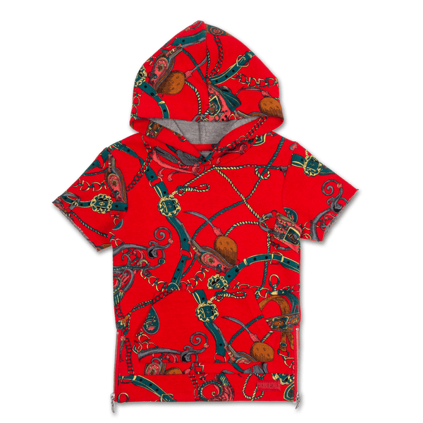 Natica Jordan S/S Hoodie (Red) - Haus of JR