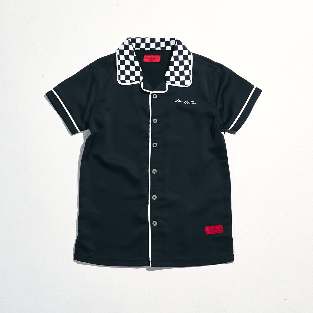 Breeze Button Up (Black/White) Tops Haus of JR