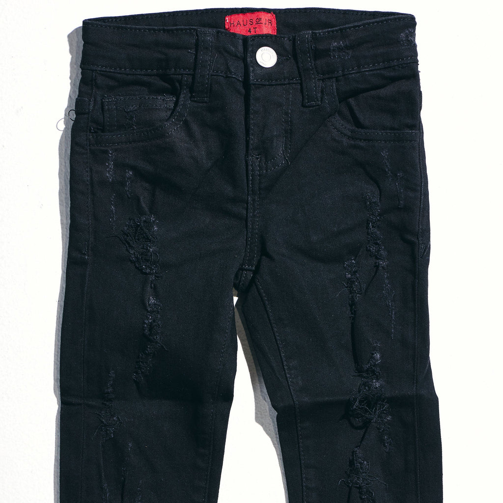 Ophelia Denim (Black) Bottoms Haus of JR