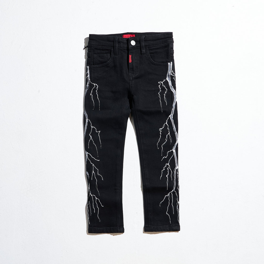 Jolt Denim (Black/White) Bottoms Haus of JR