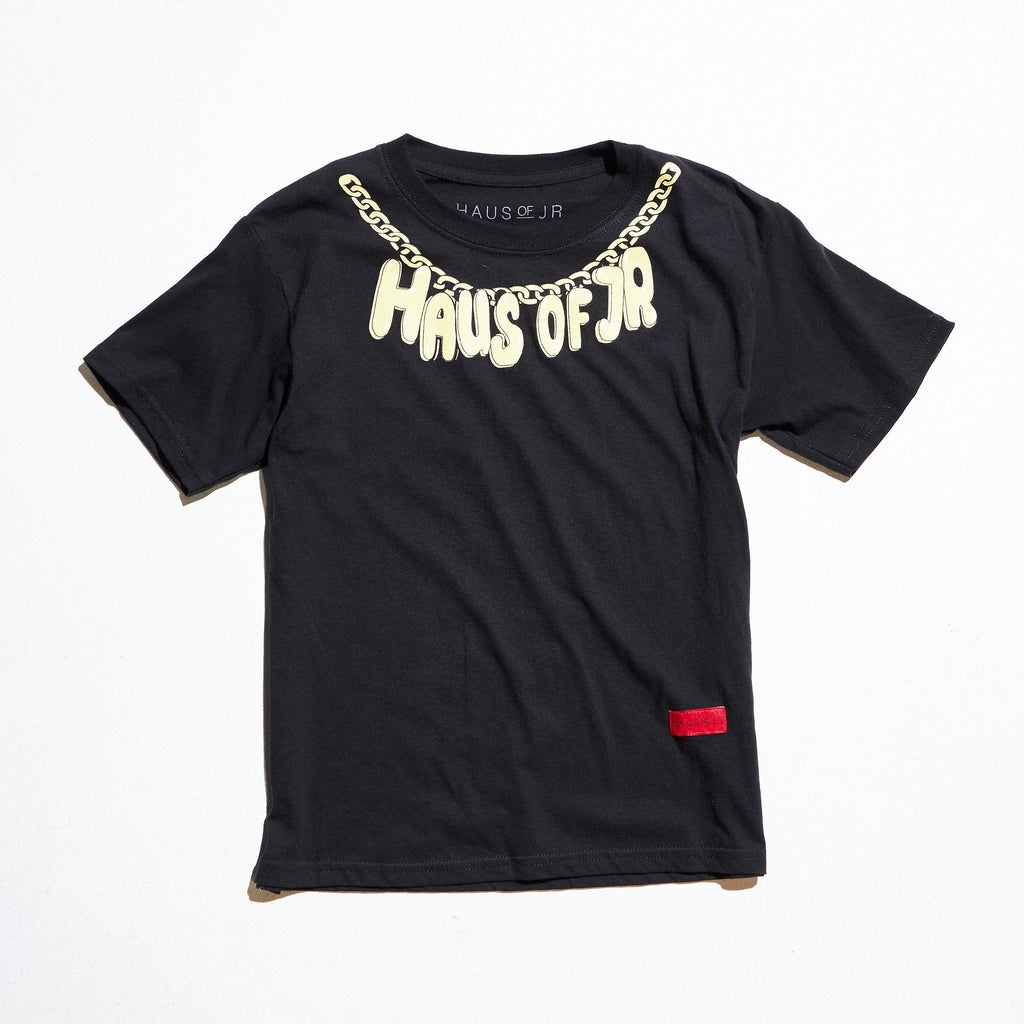 Chain Gang Tee (Black) Tops Haus of JR