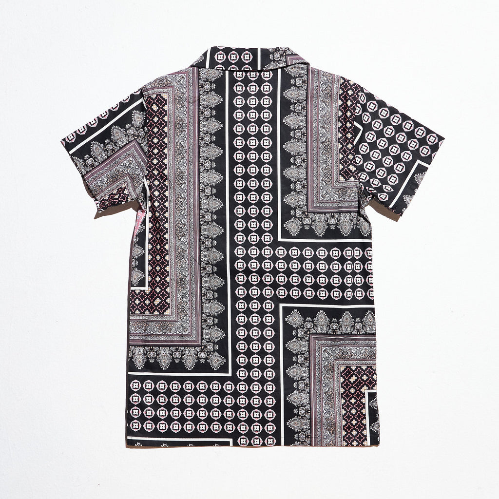 Breeze Button-Up (Pink/Black) Tops Haus of JR