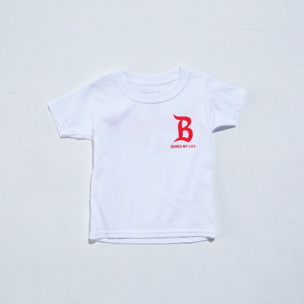 Big B Tee (White) Tops Haus of JR