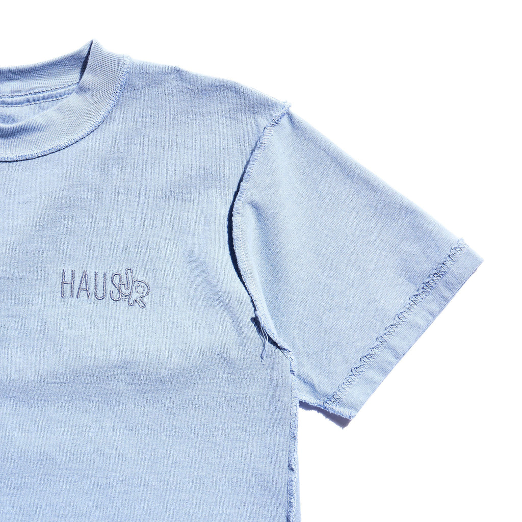 Flipped Out Tee (Baby Blue) Tops Haus of JR