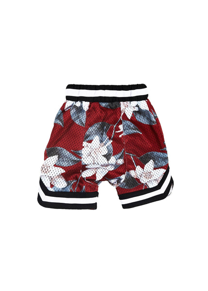 Wyst Basketball Shorts (Hawaiian Burgundy) - Haus of JR