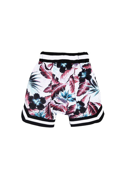 Wyst Basketball Shorts (Hawaiian White) - Haus of JR