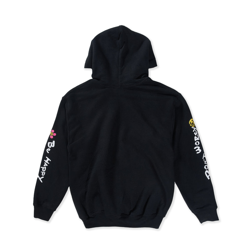 Don't Worry Be Happy Hoodie (Black) - Haus of JR