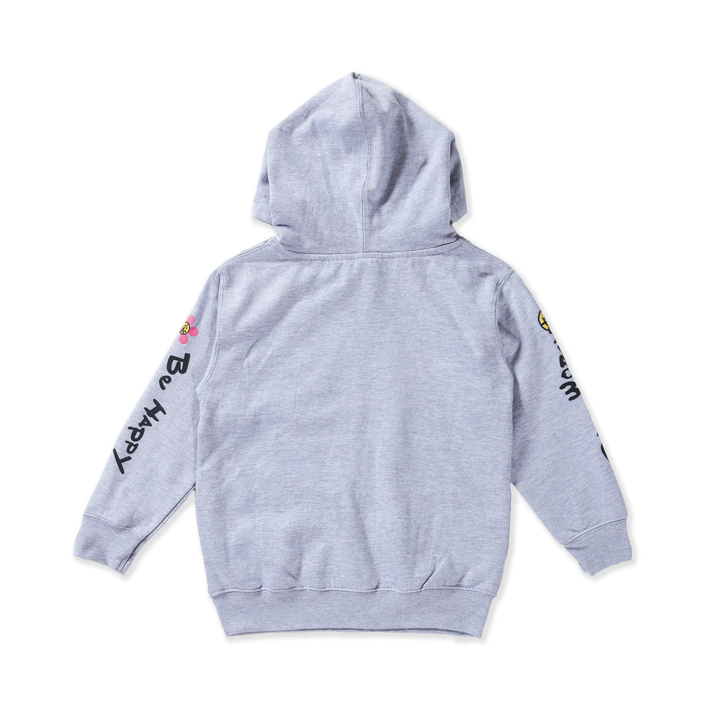 Don't Worry Be Happy Hoodie (Grey) - Haus of JR