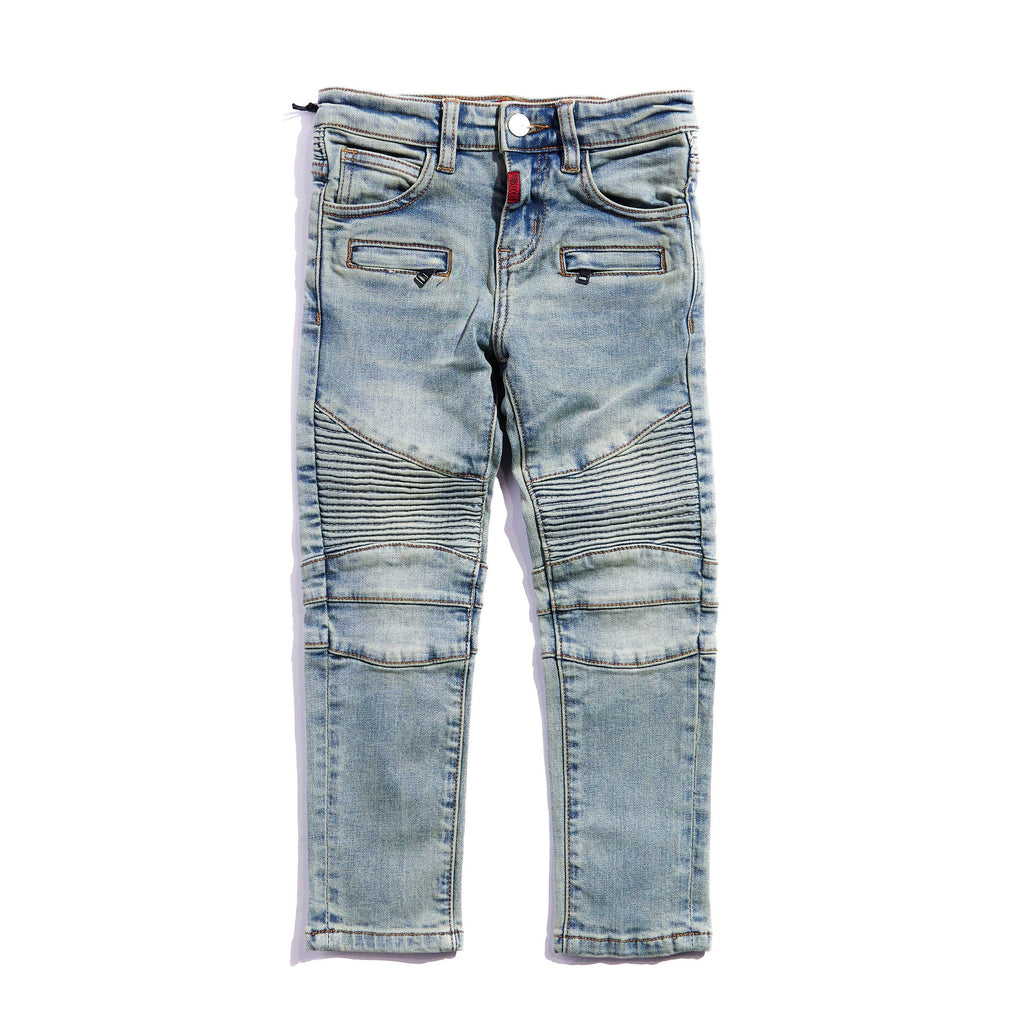 Elodie Biker Denim Bottoms Haus of JR
