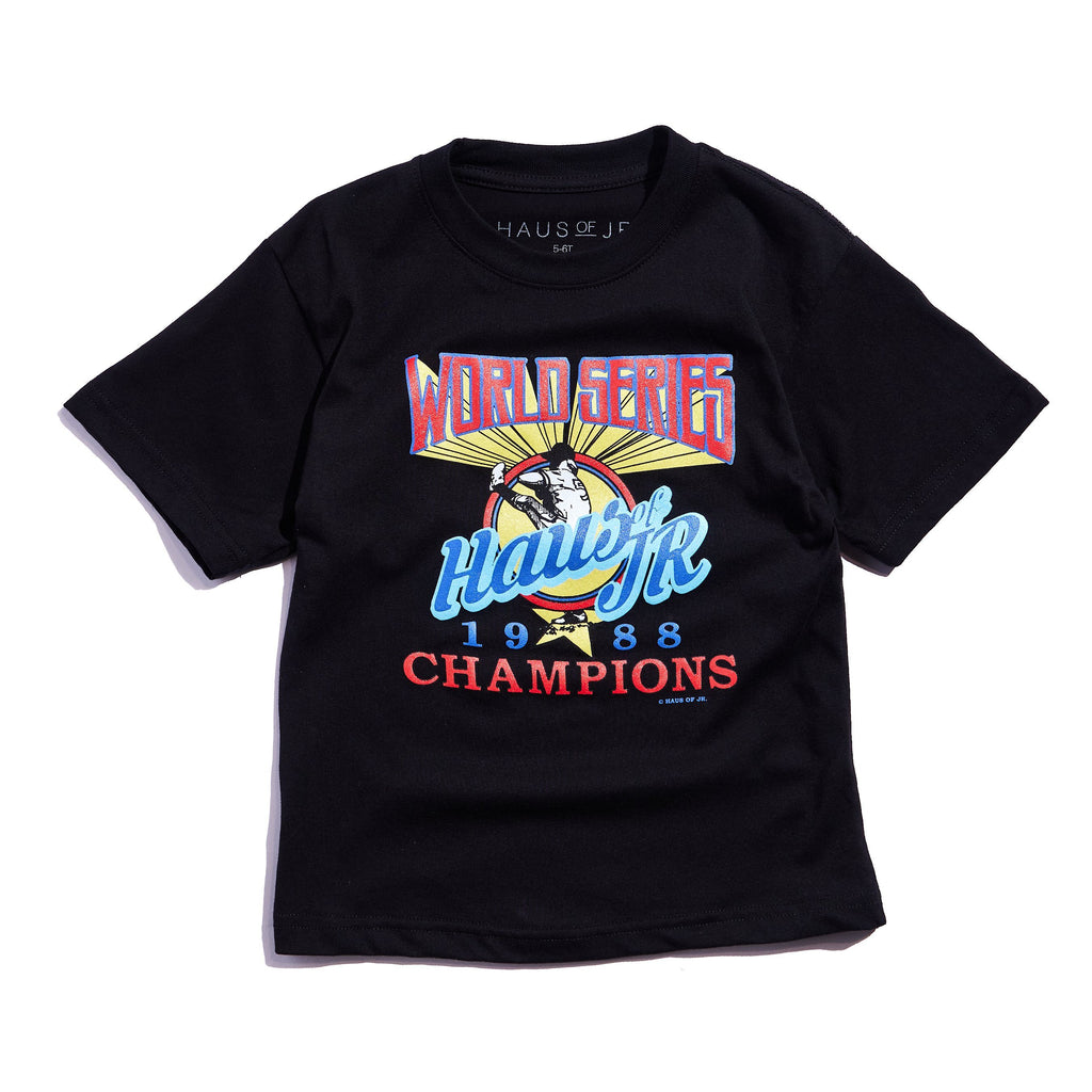 World Series Tee (Black) Tops Haus of JR