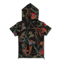 Natica Jordan S/S Hoodie (Black) - Haus of JR