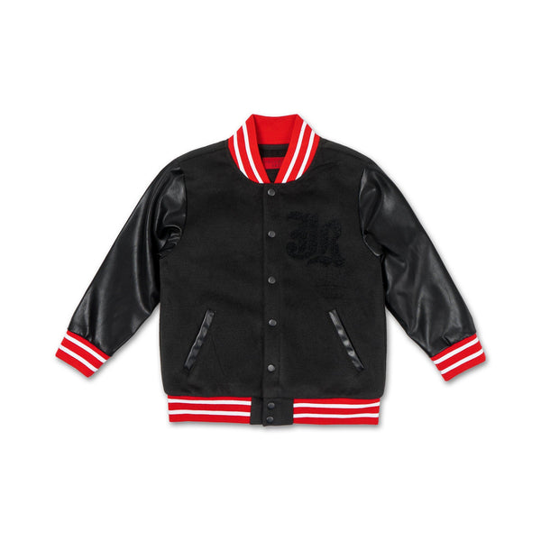 Alec Varsity Jacket (Black) - Haus of JR