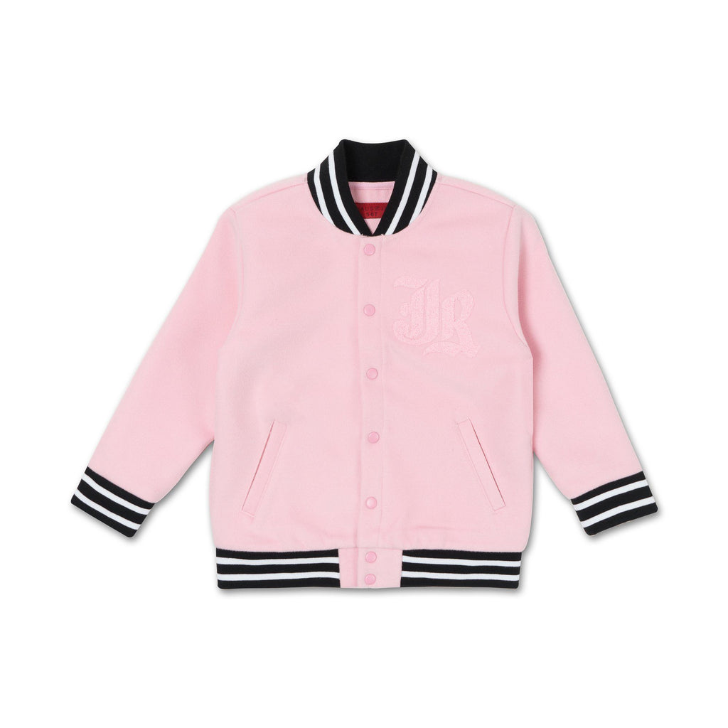 Alec Varsity Jacket (Pink) - Haus of JR