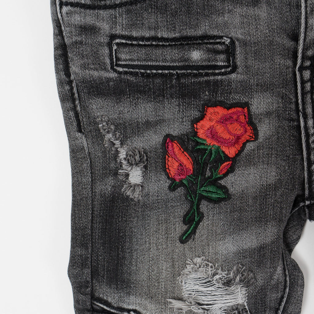 Clayton Biker Denim (Floral Denim) - Haus of JR