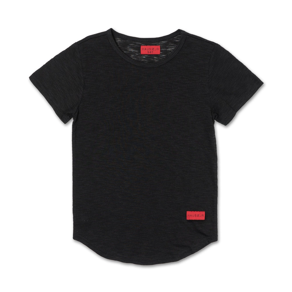 Christian Scallop Tee (Black) - Haus of JR