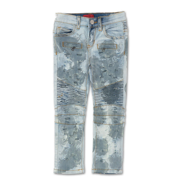 Clayton Biker Denim (Destroy Indigo) - Haus of JR
