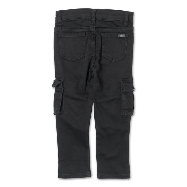 Clayton Cargo Biker Denim (Black Overdye) - Haus of JR