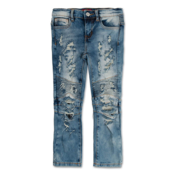 Clayton Biker Denim (Distressed Sky Wash)