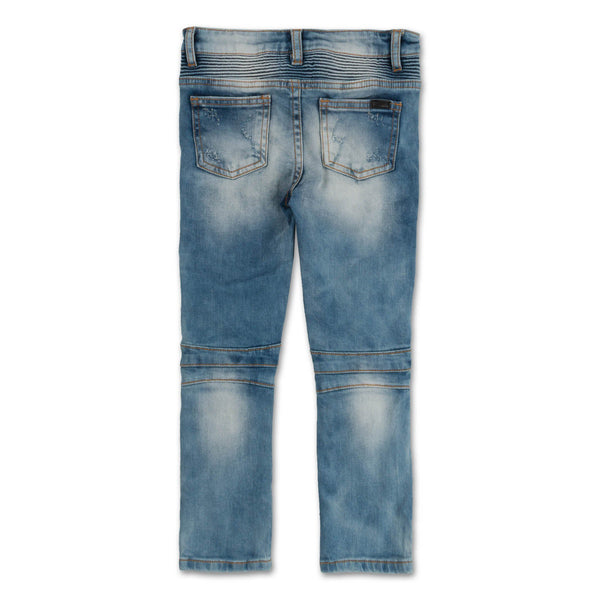 Clayton Biker Denim (Distressed Sky Wash) - Haus of JR