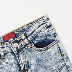 Dimitri Double Biker Denim (Indigo Acid Wash) - Haus of JR
