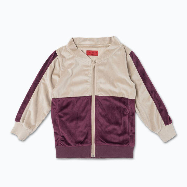 Francisco Track Jacket (Maroon/Creme)