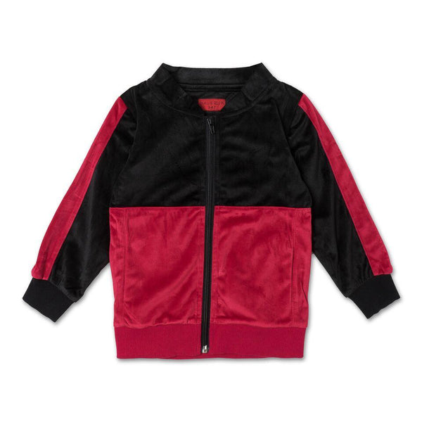 Francisco Track Jacket (Black/Red) - Haus of JR