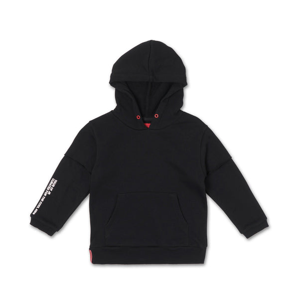 Franklin Inset Hoodie (Black) - Haus of JR
