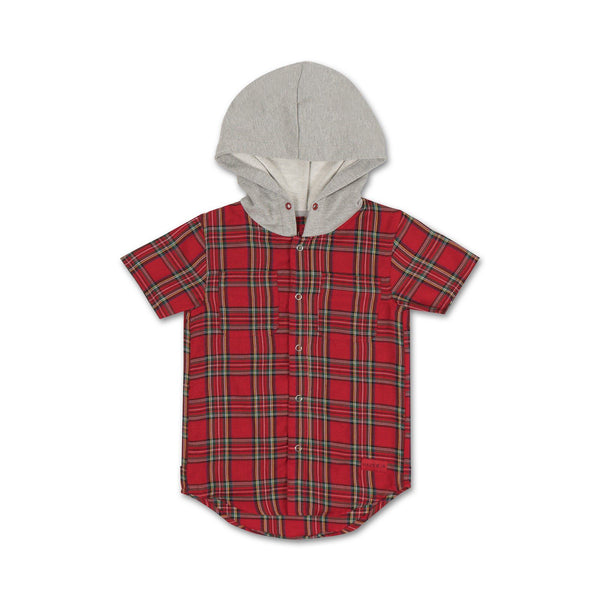 George S/S Flannel (Red)