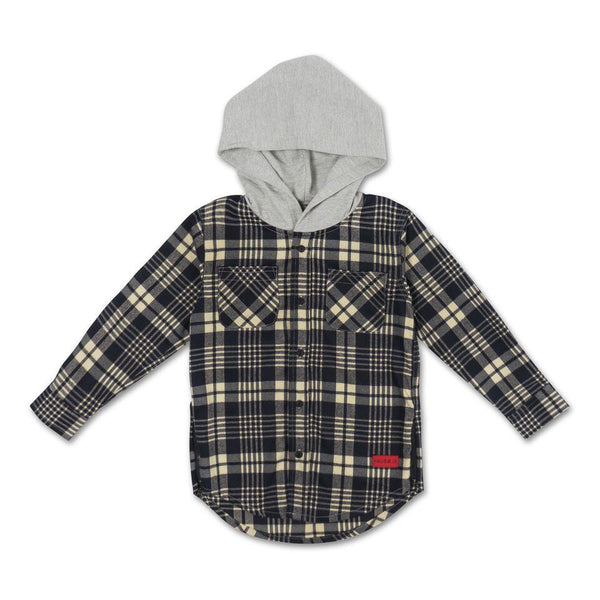George Hooded Flannel (Creme) - Haus of JR